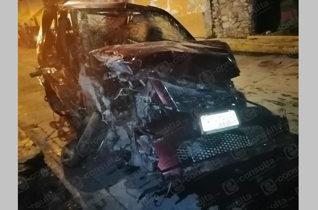 Trágica muerte en Huauchinango deja accidente automovilístico