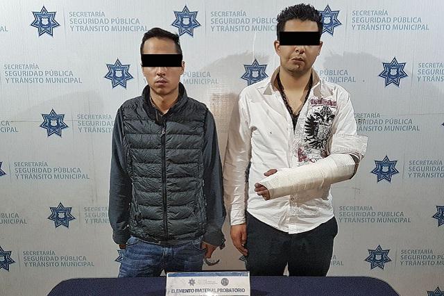 Termina persecución con choque de los delincuentes