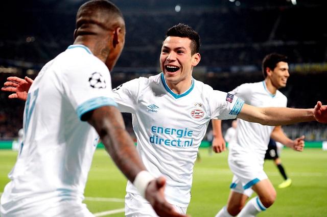 Chuky Lozano anota en el empate ante Inter de Milán