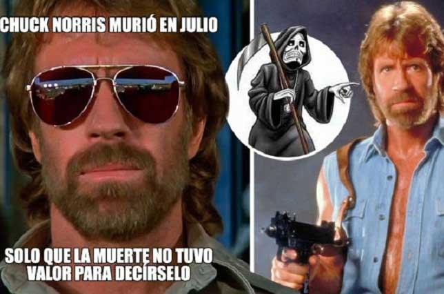 Con memes tuiteros se burlan de la muerte y se rinden ante Chuck Norris