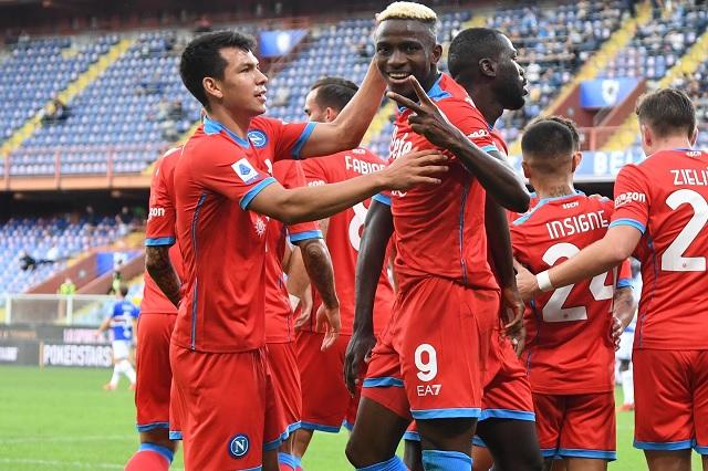 'Chucky' se luce con asistencias en goleada del Napoli sobre Sampdoria