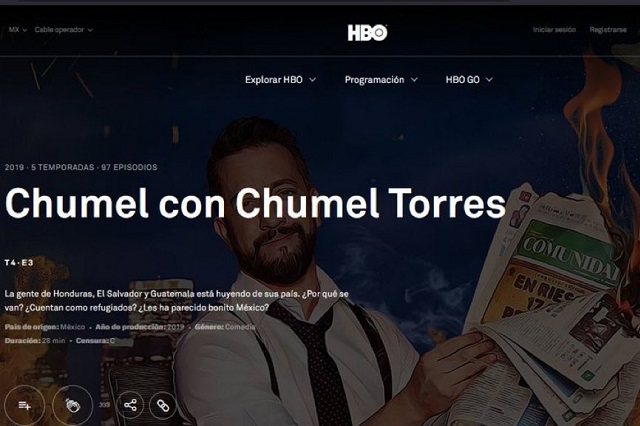 Chumel Torres regresa a HBO… ¿Con contenido nuevo?