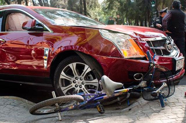 Atropellan en el Distrito Federal a tres ciclistas en un día