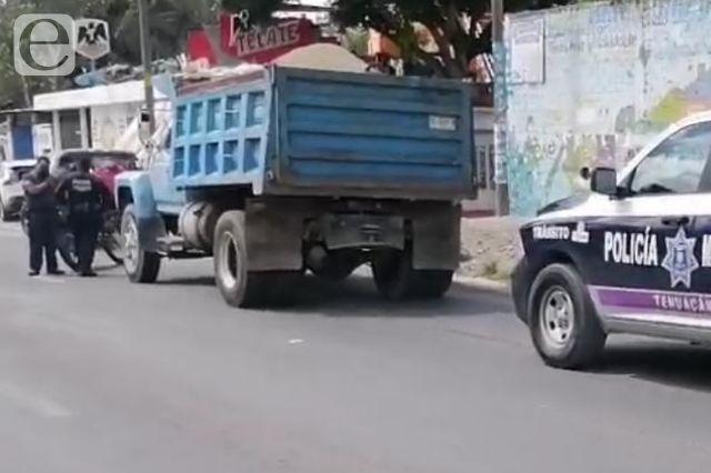 Muere ciclista tras ser arrollada por torton en Tehuacán