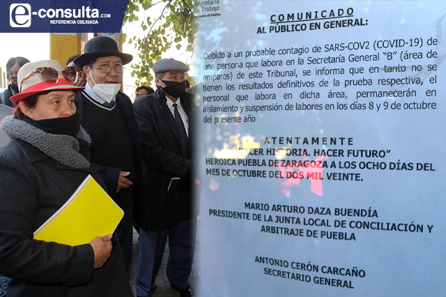 Ahora cierra la Junta Local de Conciliación por contagio de Covid