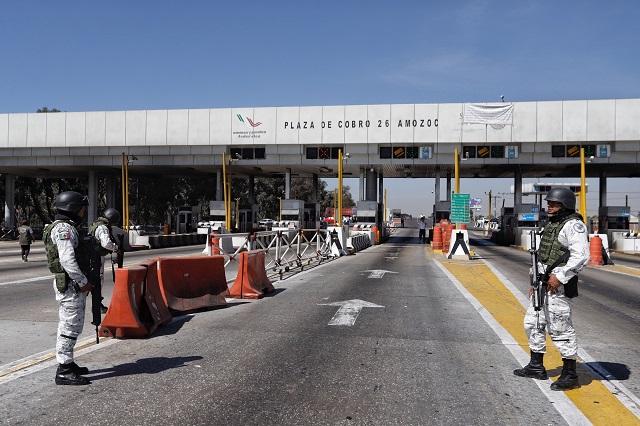 Pepenadores de la Conimer liberan autopista Puebla-Orizaba