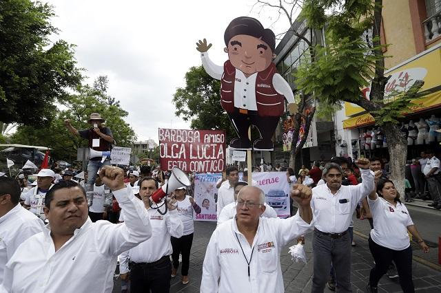 Barbosa, el de más exposición mediática en la campaña: INE