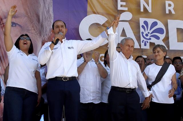 Ni amenazas ni dinero impedirán que ganemos elección: Cárdenas