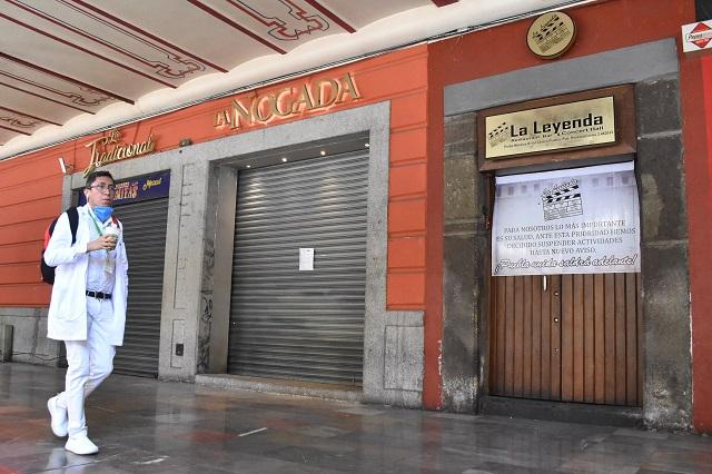 Coronavirus cierra 15 hoteles y al menos 83 restaurantes en Puebla