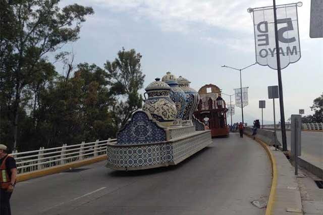 Cierran vialidades del centro de Puebla por Desfile del 5 de Mayo