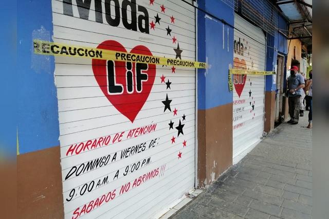 Para evitar revisión sanitaria cierran negocios en Huauchinango