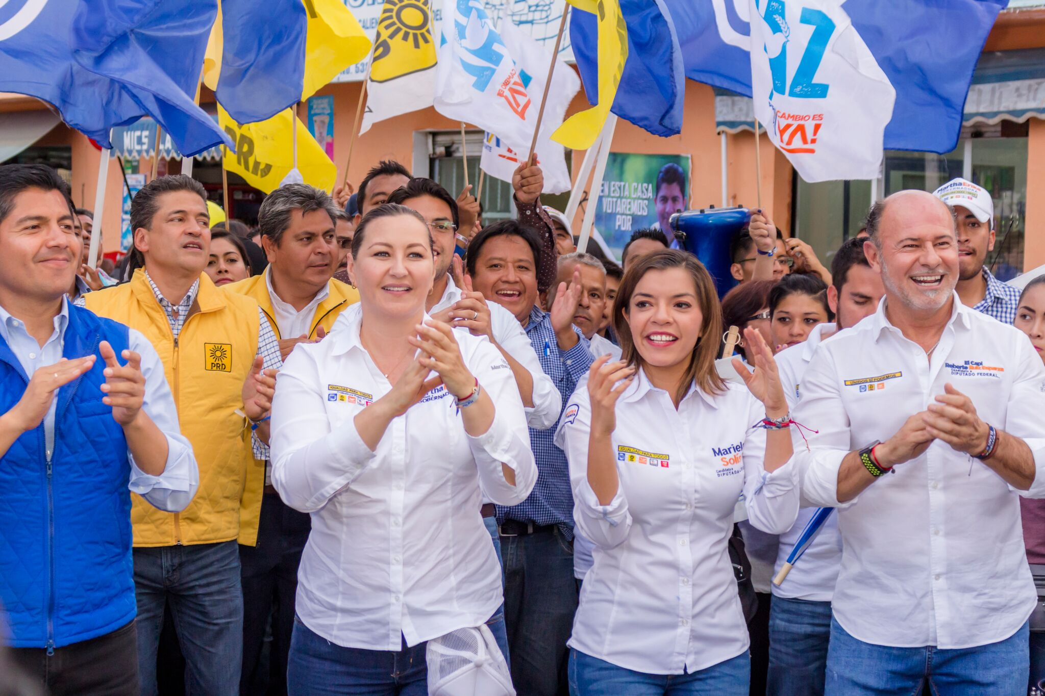 Martha Erika Alonso acompaña a candidatos capitalinos a cierres de campaña