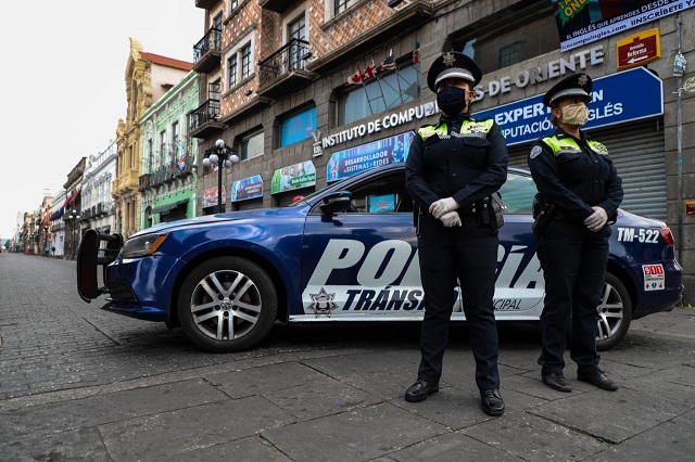 Cierran otra vez centro de Puebla para reducir contagios de Covid