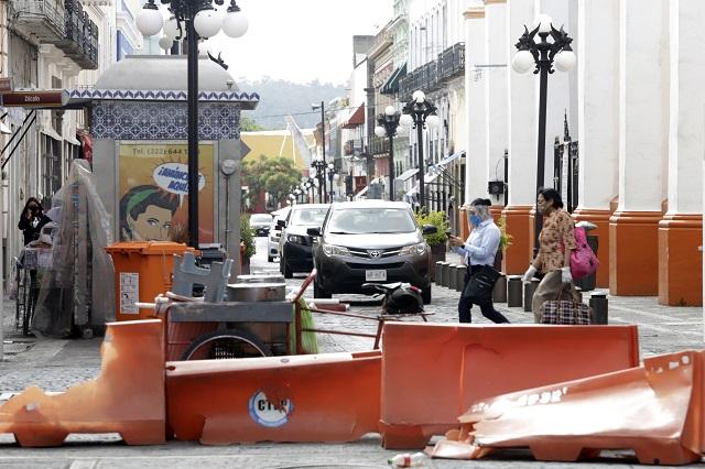 Obras en el centro de Puebla darán otro golpe al comercio: IP