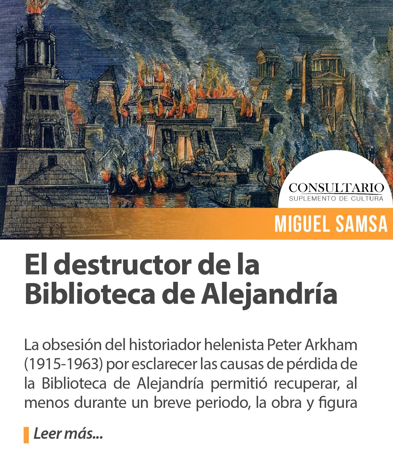 El destructor de la Biblioteca de Alejandría