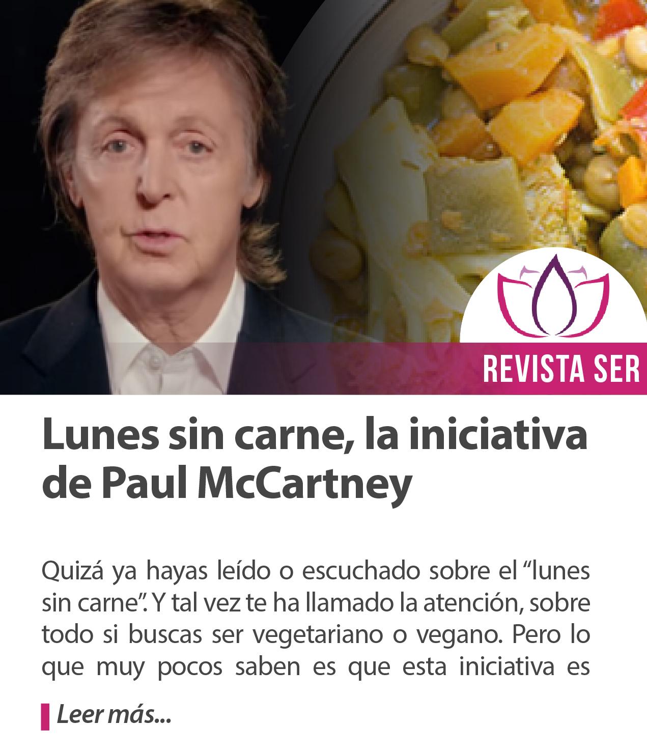 Lunes sin carne, la iniciativa de Paul McCartney