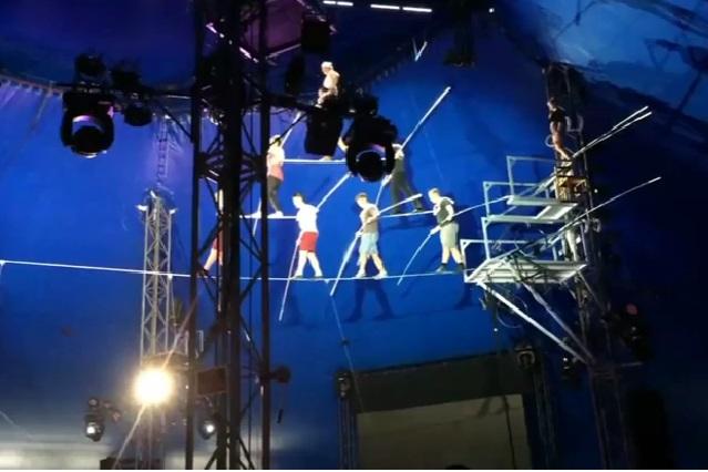 Impactante video de como caen equilibristas desde 10 metros