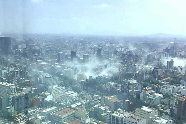 La Ciudad de México se encuentra en emergencia por sismo de 7.1