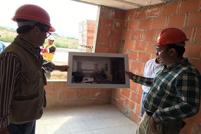 Supervisa titular de la Sedeso avances en construcción de la Ciudad Modelo