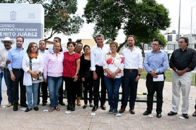 Autoridades supervisan espacios públicos en la capital del estado