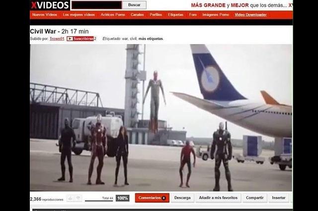 Capitán América: Civil War fue subida completa a Xvideos en HD