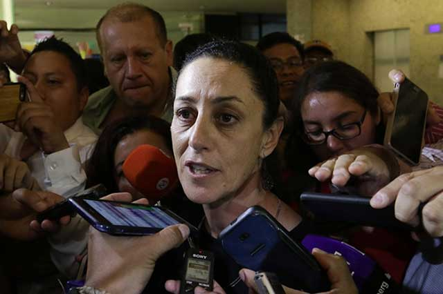 Sheinbaum afirma que aún no es tiempo de hablar de la candidatura a la CDMX