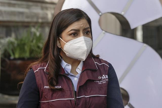 Claudia Rivera, sin prueba de Covid; no tiene síntomas