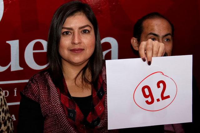 A mitad de gobierno, 9% apoya la reelección de Claudia Rivera