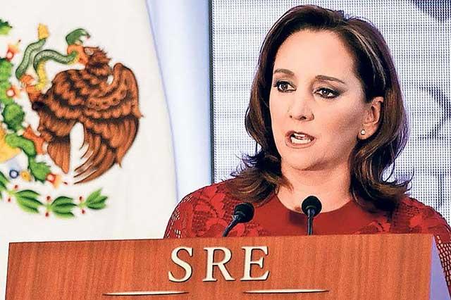Tras visita de Trump, difundieron rumor de la renuncia de Claudia Ruiz Massieu