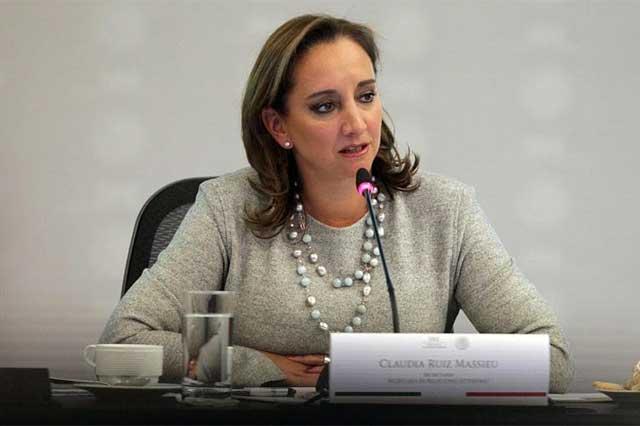Advierte Claudia Ruiz Massieu que renegociar el TLC tendría un alto costo
