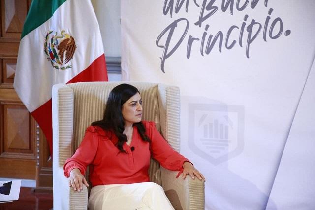 Pide Claudia Rivera a su sucesor no ser sumiso ante el gobernador
