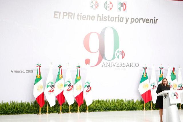 Celebra el PRI 90 años y afirma que su elección interna será democrática