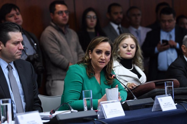 Claudia Ruiz Massieu anuncia que no competirá por la dirigencia del PRI