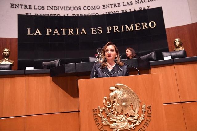 Claudia Ruiz Massieu solicita en el Senado licencia por tiempo indefinido