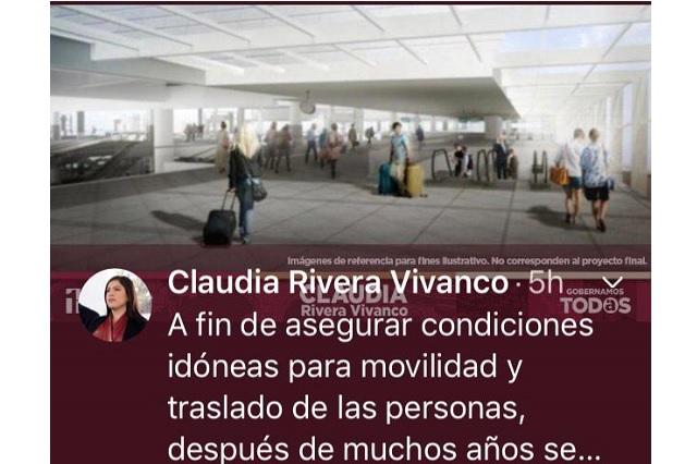 Nueva pifia en promocionales de Claudia Rivera; ahora con la CAPU