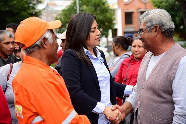 Titular de seguridad municipal, con todo mi apoyo, dice Claudia Rivera