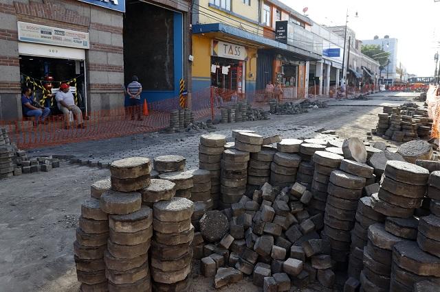 Clausuran obras del ayuntamiento poblano en el Centro Histórico