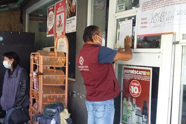 Clausuran tienda Súper Extra en Cholula por venta de alcohol