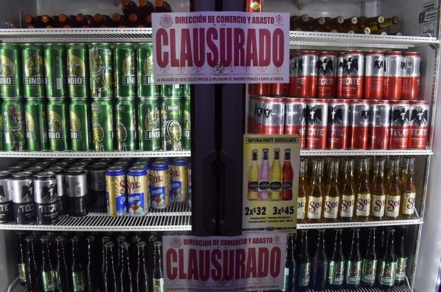 Clausuran negocios con venta de alcohol en Huauchinango