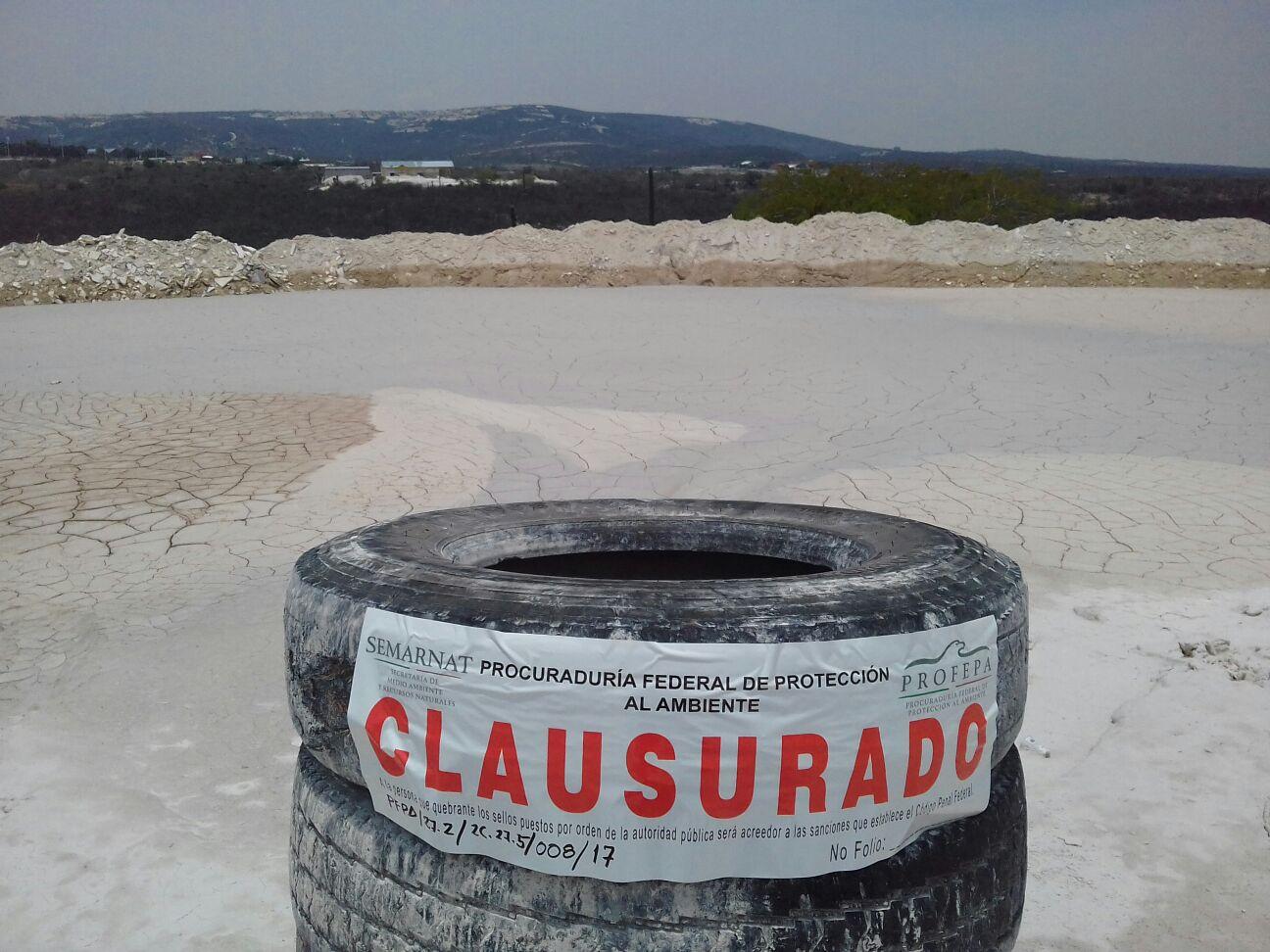 Clausura Profepa presa de lodos de marmol en Tepexi de Rodríguez