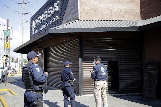 Comienzan clausuras por venta de bebidas alcohólicas en Puebla