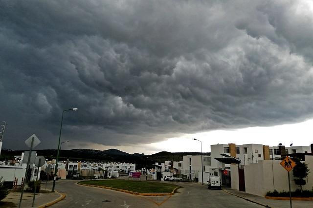 Chubasco y tormenta eléctrica esperan para Puebla este viernes