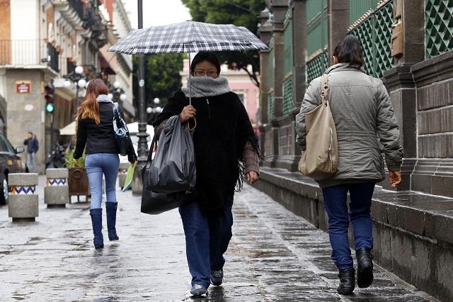 Frío, lluvia y heladas en las zonas altas, espera Puebla por frente frío 35