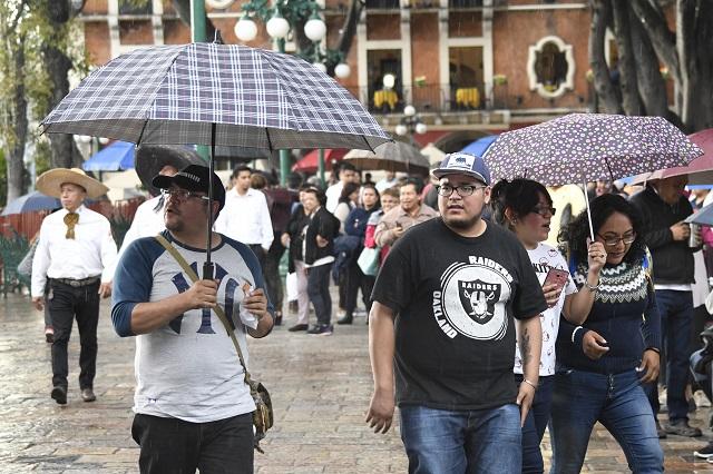 Pronostican lluvias moderadas en Puebla para el fin de semana