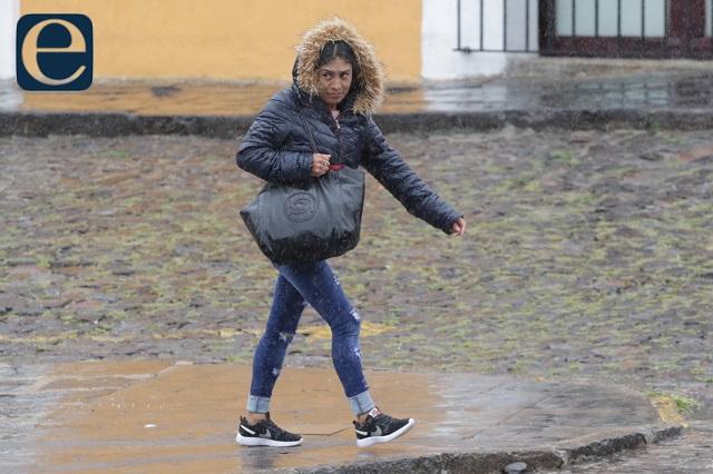 Niebla, lluvias y frío sobre Puebla, alertan autoridades