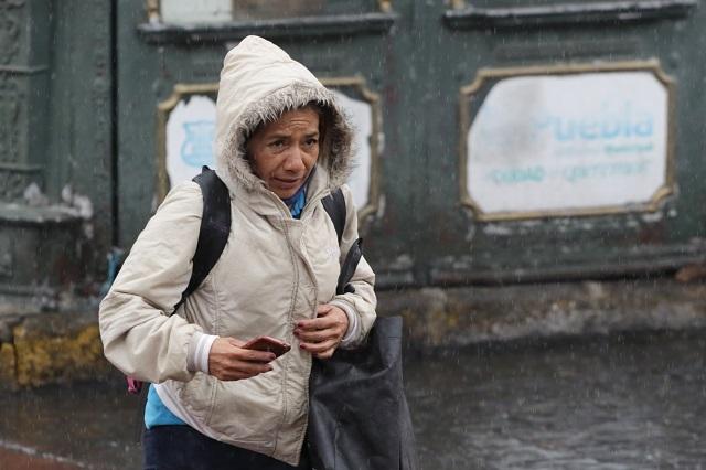 Ráfagas, lluvias y heladas en Puebla por Frente Frío 13