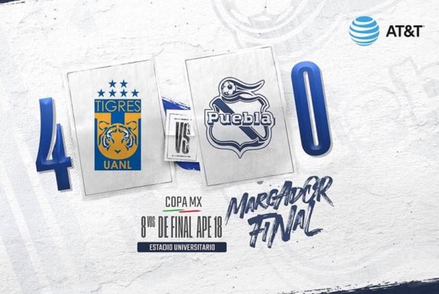 Puebla, goleado y eliminado en la Copa MX