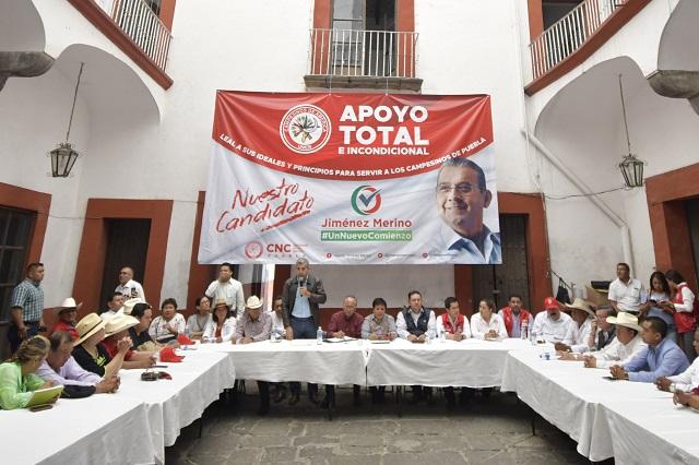 Respaldan 29 dirigentes de la CNC a Jiménez Merino