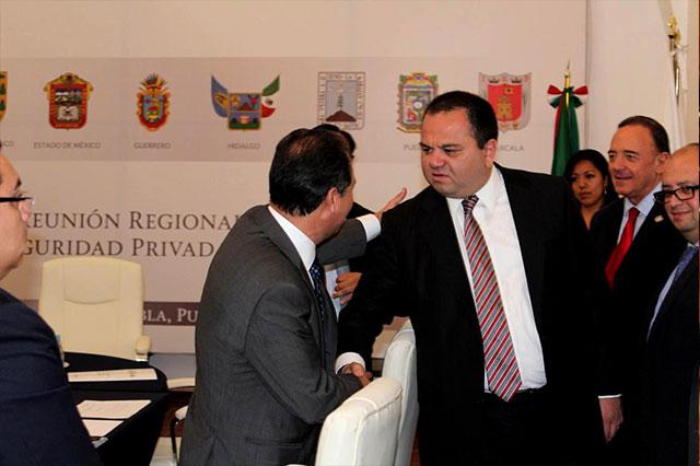 Puebla fue sede de reunión regional para regularizar seguridad privada