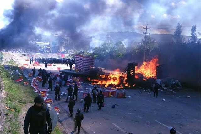 Hubo 11 ataques con arma de fuego en Nochixtlán: Policía Federal